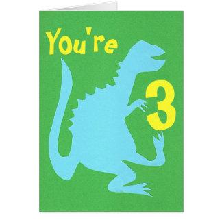 Jeu de la carte d'anniversaire de Dino 3