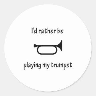 Jeu de ma trompette autocollants ronds