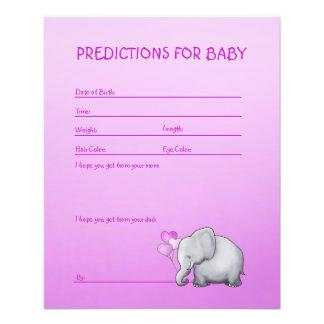 Jeu de prévisions de douche de bébé d'éléphant prospectus 11,4 cm x 14,2 cm