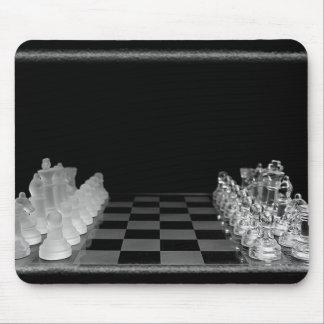 Jeu de société en verre éffrayant noir et blanc tapis de souris