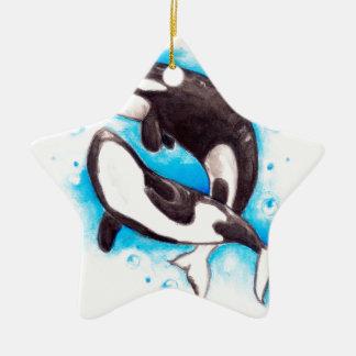 jeu d'orque ornement étoile en céramique