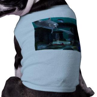 Jeu drôle de dauphins t-shirts pour chien