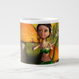 Jeu féerique mignon avec une luciole mug jumbo