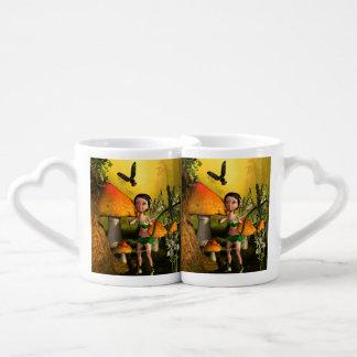 Jeu féerique mignon avec une luciole set tasses duo