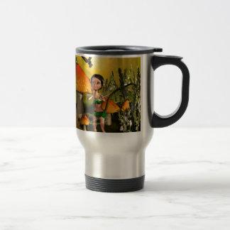Jeu féerique mignon avec une luciole mug de voyage en acier inoxydable