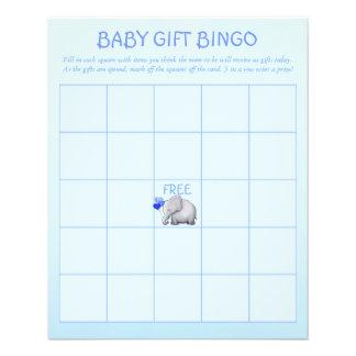 Jeu mignon bleu de bingo-test de douche de bébé prospectus 11,4 cm x 14,2 cm