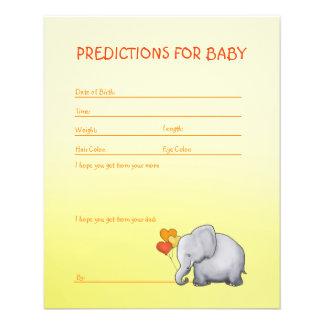 Jeu mignon neutre de prévisions de baby shower prospectus 11,4 cm x 14,2 cm