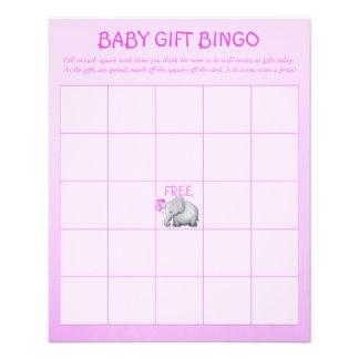 Jeu mignon rose de bingo-test de douche de bébé prospectus 11,4 cm x 14,2 cm