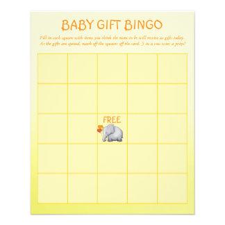 Jeu neutre de bingo-test de cadeau de bébé de baby prospectus 11,4 cm x 14,2 cm
