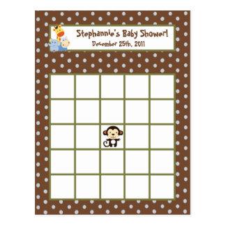 Jeu programmable de jungle de carte de bingo-test