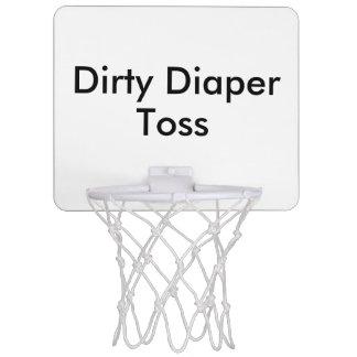 Jeu sale de baby shower de lancer de mini-panier de basket