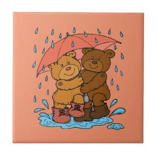 Jeu sous la pluie petit carreau carré