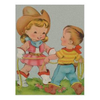 Jeu vintage d'enfants carte postale