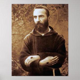 Jeune aumônier Pio Poster