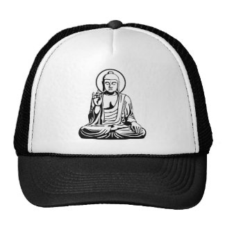 Jeune Bouddha No.1 (blanc noir) Casquettes