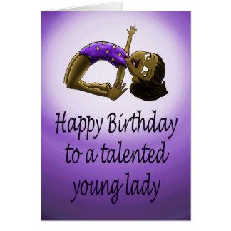 Jeune carte d'anniversaire de gymnaste