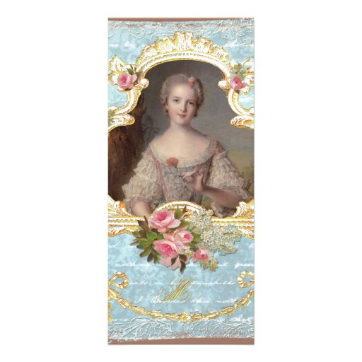 Jeune carte de support de roses de Marie Antoinett Double Carte En Couleur