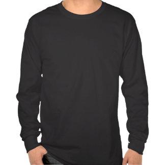Jeune chemise longtemps gainée noire de flamme t-shirts
