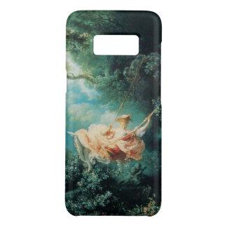 JEUNE DAME SUR l'OSCILLATION DANS le rose de vert Coque Case-Mate Samsung Galaxy S8