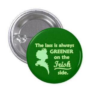 Jeune fille irlandaise verte badge rond 2,50 cm