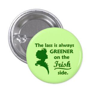 Jeune fille irlandaise verte petite badge rond 2,50 cm