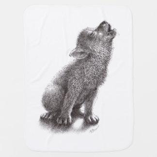 Jeune loup d'hurlement couvertures pour bébé