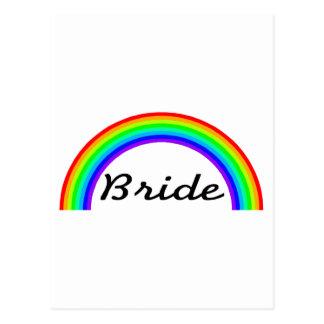 Jeune mariée (arc-en-ciel) carte postale