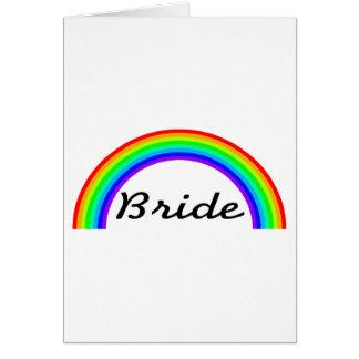 Jeune mariée (arc-en-ciel) cartes de vœux