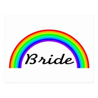 Jeune mariée (arc-en-ciel) cartes postales