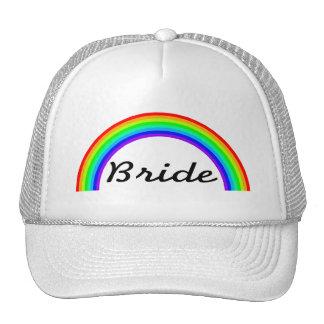 Jeune mariée (arc-en-ciel) casquettes de camionneur