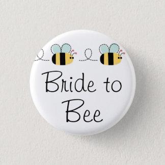 Jeune mariée au bouton nuptiale mignon d'abeille pin's