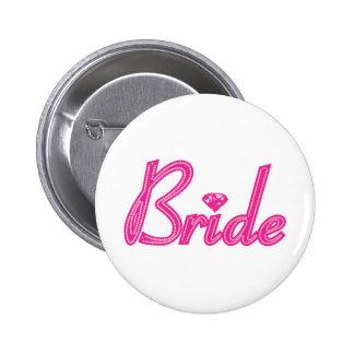 Jeune mariée avec Bling - rose Badge