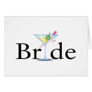 Jeune mariée (boisson de Martini) Carte De Vœux
