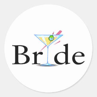 Jeune mariée (boisson de Martini) Sticker Rond