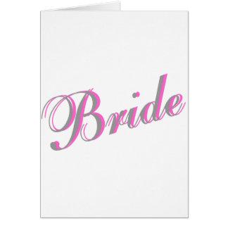 Jeune mariée carte de vœux