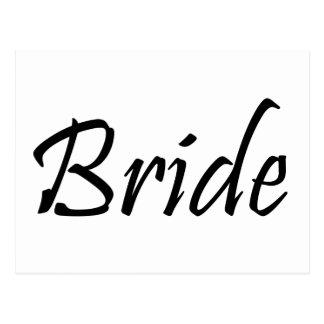 Jeune mariée carte postale