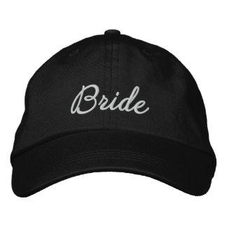 Jeune mariée casquette brodée