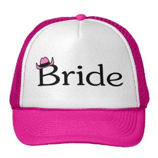 Jeune mariée chapeau de cowboy casquettes de camionneur