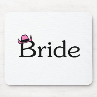 Jeune mariée (chapeau de cowboy) tapis de souris