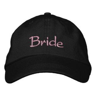 Jeune mariée chique casquette brodée