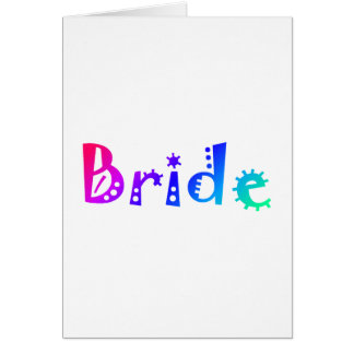 Jeune mariée (couleur) carte de vœux
