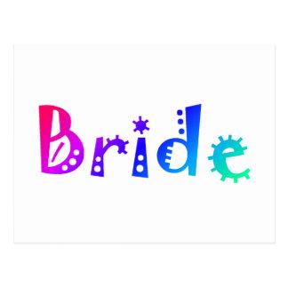 Jeune mariée (couleur) carte postale