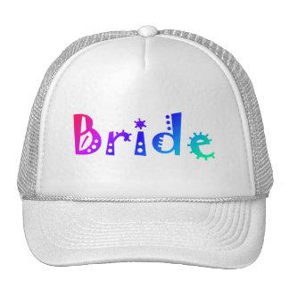 Jeune mariée (couleur) casquettes de camionneur