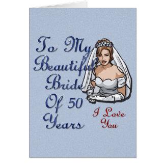 Jeune mariée de 50 ans carte de vœux