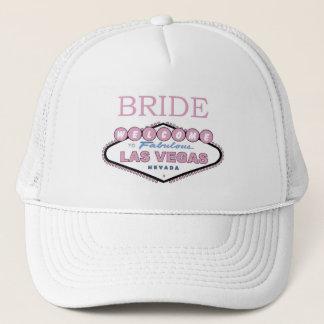 Jeune mariée de casquette de Las Vegas