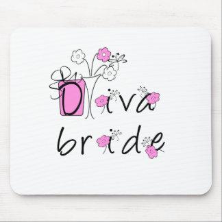 Jeune mariée de diva tapis de souris