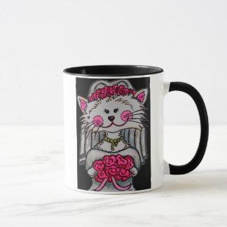 Jeune mariée de Kitty à être tasse