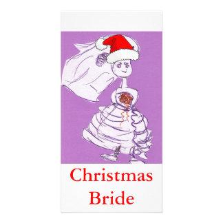Jeune mariée de Noël Photocarte Customisée