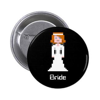 Jeune mariée de pixel badges