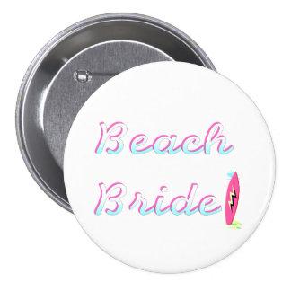 Jeune mariée de plage badge